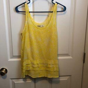 Yellow pattern tank top